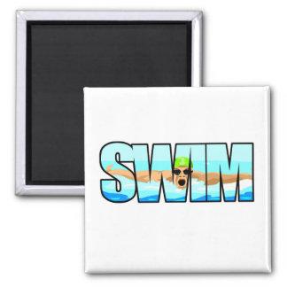 Swim Butterfly Magnet