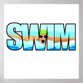 Swim Butterfly Poster
