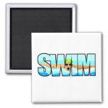Swim Butterfly Refrigerator Magnet