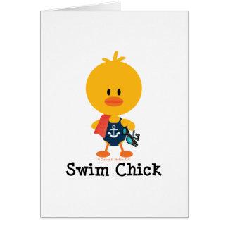 Swim Chick Card