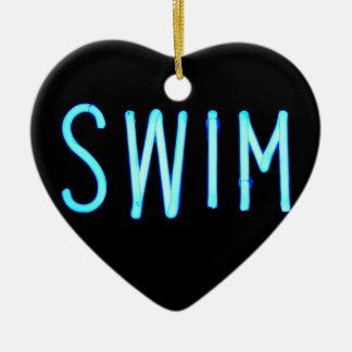 Swim Christmas Ornament