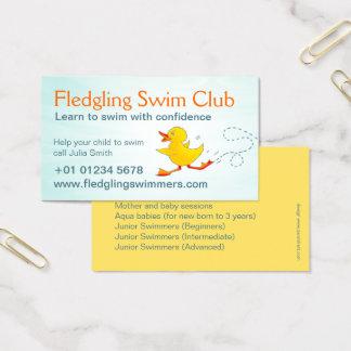 Swim club swim teachers business card