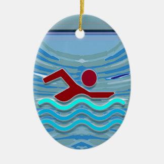 Swim Club Swimmer Exercise Fitness NVN254 Swimming Christmas Ornament