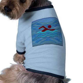 Swim Club Swimmer Exercise Fitness NVN254 Swimming Dog Tee Shirt