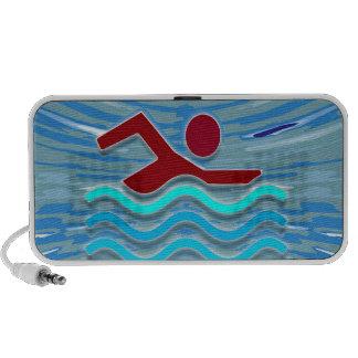 Swim Club Swimmer Exercise Fitness NVN254 Swimming Mp3 Speakers