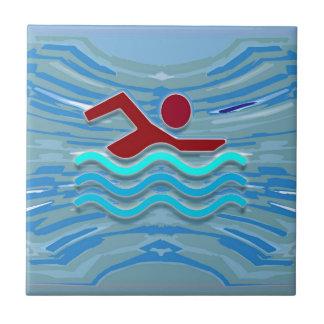 Swim Club Swimmer Exercise Fitness NVN254 Swimming Ceramic Tile