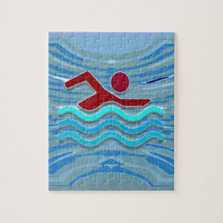 Swim Club Swimmer Exercise Fitness   Swimming Jigsaw Puzzle