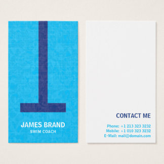 Swim Coach Business Card