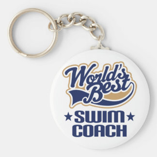 Swim Coach Gift Basic Round Button Key Ring