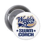 Swim Coach Gift Buttons