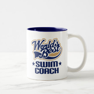Swim Coach Gift Two-Tone Coffee Mug