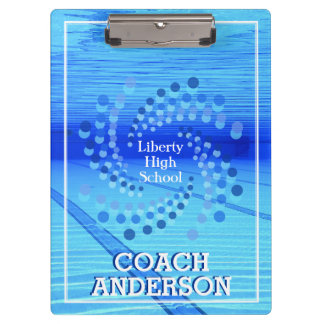 Swim Coach | Swimming Team | Swirling Dots Clipboard
