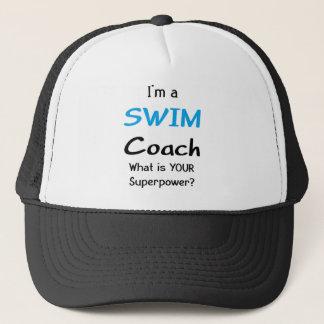 Swim coach trucker hat