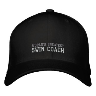 Swim Coach World s Greatest Hat Embroidered Baseball Caps