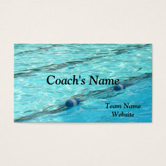 SWIM COACH'S BUSINESS CARD