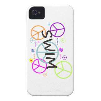 Swim Colored Peace Signs Case-Mate iPhone 4 Case