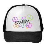Swim Coloured Peace Signs Hats