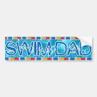 Swim dad bumper sticker