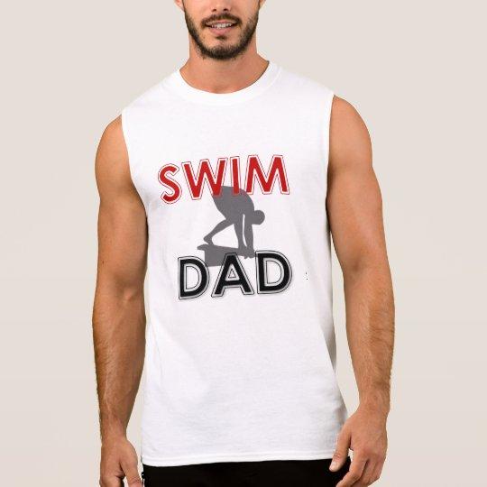 Swim Dad Sleeveless T-Shirt