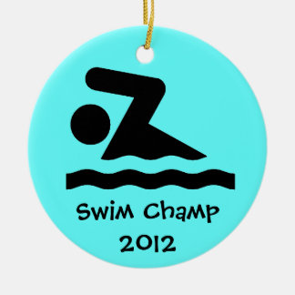 Swim Design Ornament
