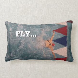 Swim Dream FLY throw Pillow