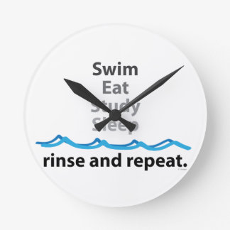 Swim Eat Study Sleep Wallclock