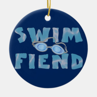 Swim Fiend - Swimming Ornament