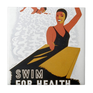 Swim for health in safe and pure pools small square tile
