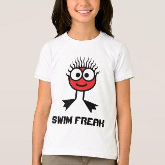 Swim Freak -  Red Swim Character T-Shirt