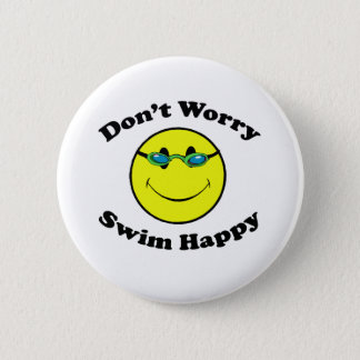 Swim Happy 6 Cm Round Badge