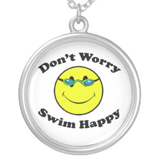 Swim Happy Silver Plated Necklace