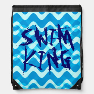 SWIM KING DRAWSTRING BACKPACK
