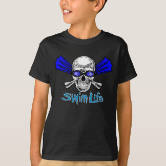Swim life kids dark tee