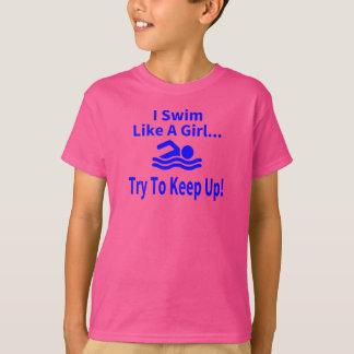 Swim Like a Girl Tshirts