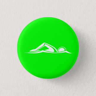 Swim Logo Button Green