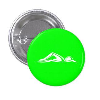 Swim Logo Button Green