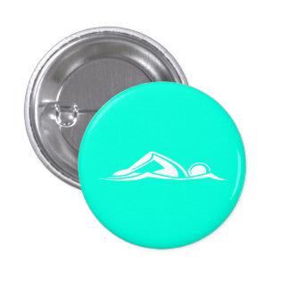 Swim Logo Button Turquoise