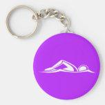 Swim Logo Keychain Purple