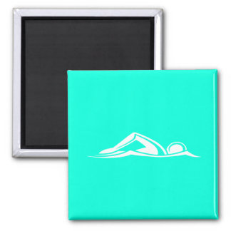 Swim Logo Magnet Turquoise