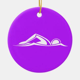 Swim Logo Ornament  Purple