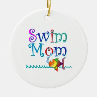 Swim Mom Christmas Ornament
