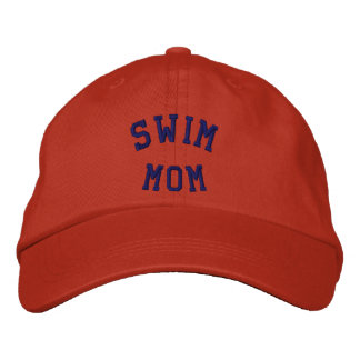 Swim Mom Embroidered Hat