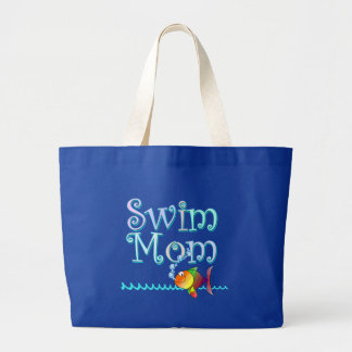 Swim Mom Large Tote Bag