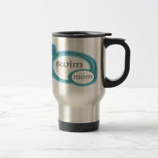 Swim Mom Swirl Travel Mug