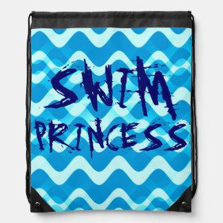 SWIM Princess Drawstring Backpacks