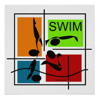 Swim Quartet Poster