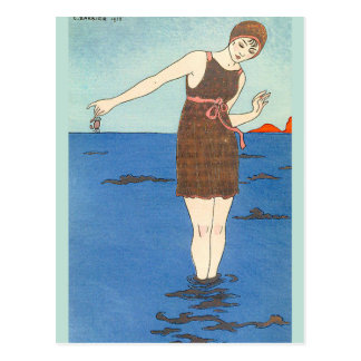 Swim Suit by George Barbier Postcard