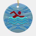 SWIM Swimmer Love Heart Pink Red Pool NVN695 FUN