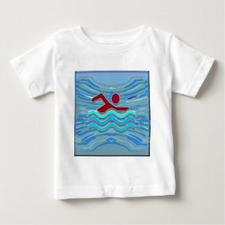 SWIM Swimmer Love Heart Pink Red Pool NVN695 FUN Tshirt