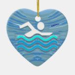SWIM Swimmer Success Dive Plunge Success NVN238 Christmas Ornaments